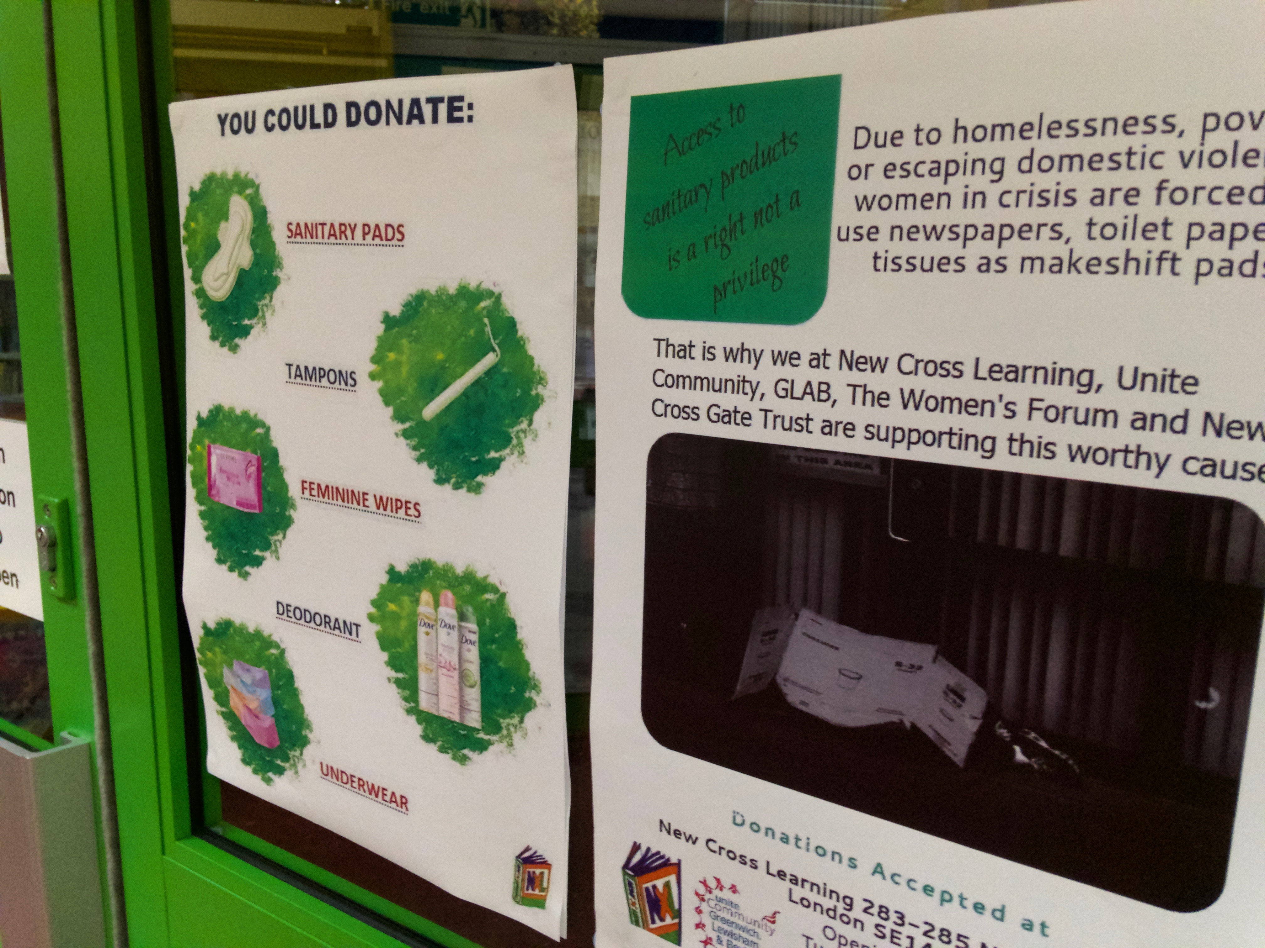 Period poverty campaign at library