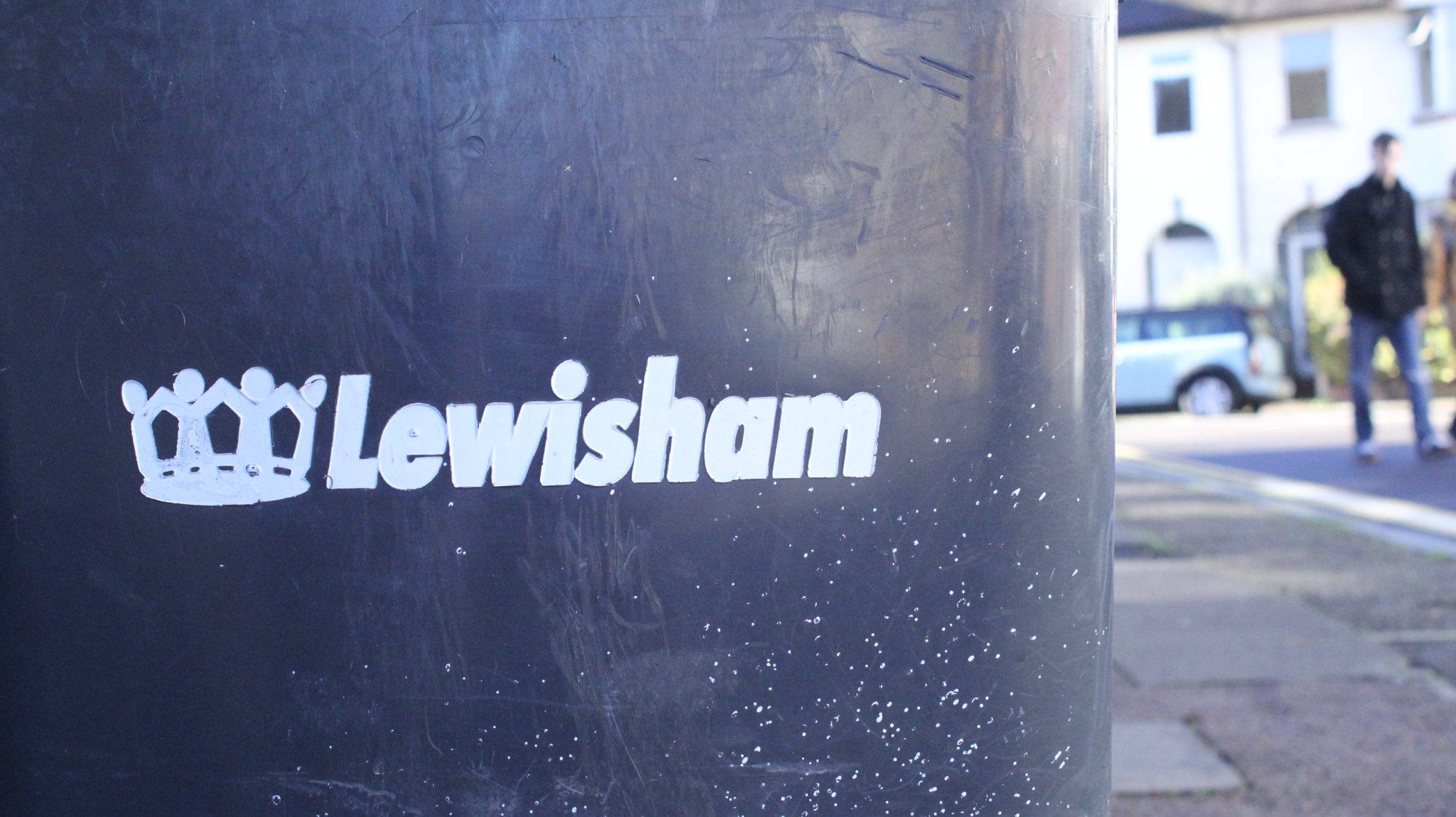 Lewisham council wheelie bin Brockley
